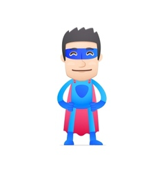 Superhero in various poses vector