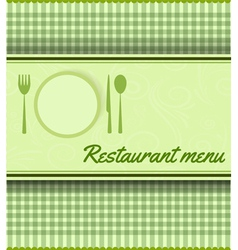 Restaurant green template vector