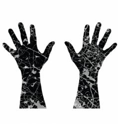 cracked hands vector image