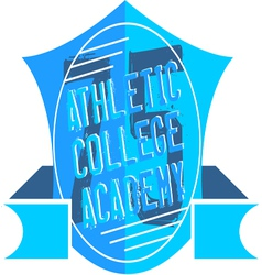 Athletic college vector