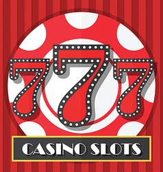 Lucky seven casino slot machine background icon vector