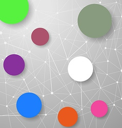 Modern connection modeling background with circles vector