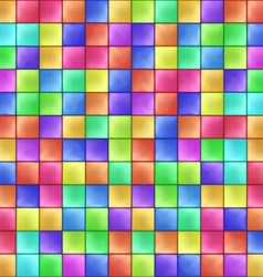 Abstract colorful squares mosaic pattern vector