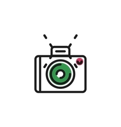 Color line icon for flat design Camera photo vector image