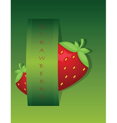 Strawberry background vector