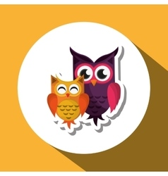 An owl graphic design vector