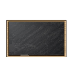 Chalk board blackboard isolated on white vector