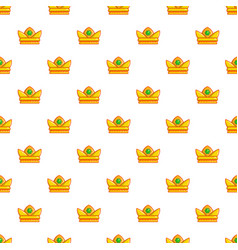 baroness crown pattern seamless vector image