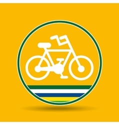 bike cycling sport badge icon vector image