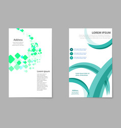 Brochure template design with cubes and abstract vector
