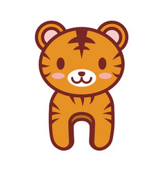 cartoon tiger animal image vector image vector image