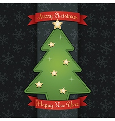 christmas tree decoration vector image vector image