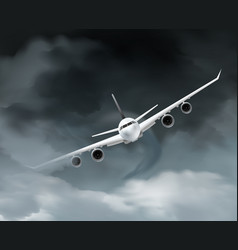 dark weather aircraft composition vector image vector image