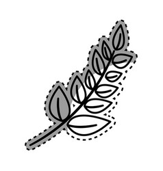 Figure plant branch decoration design vector