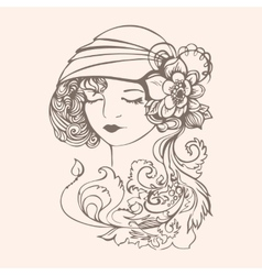 Flapper girl vector
