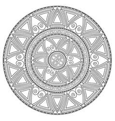 Geometric circular pattern vector