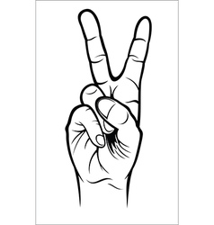 Hand gesture - Victory vector image