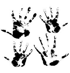 Hand print skin texture pattern vector