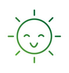 happy cartoon sun weather light day vector image vector image