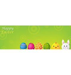Happy Easter Banner vector image vector image