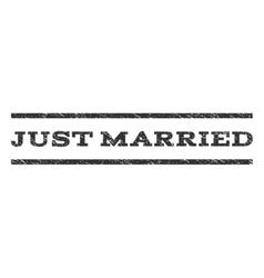 Just married watermark stamp vector