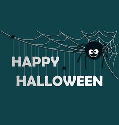 paper art happy halloween card cut style vector image vector image