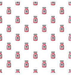 Poison bottle pattern seamless vector