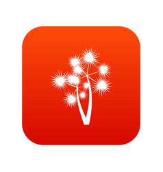 Prickly palm icon digital red vector