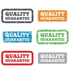 Quality guarantee sign icon certificate symbol vector