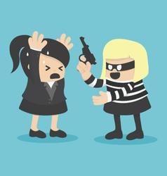 Robbing a businesswoman vector