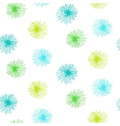 seamless pattern with small furry flowers vector image