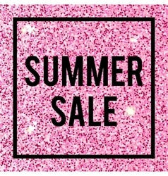 Summer Sale banner on glittering background vector image vector image