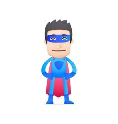 Superhero in various poses vector