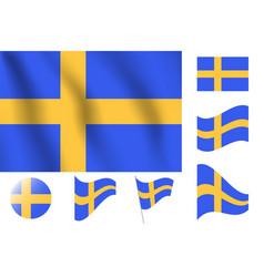 Sweden flag realistic flag national symbol design vector