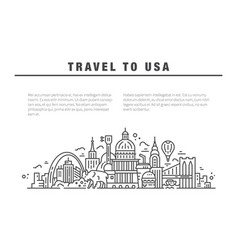The symbols of america in line style vector