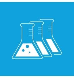 Three flasks icon simple vector