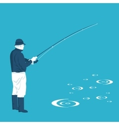 flat of fishing vector image