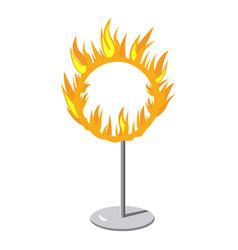 burning hoop icon cartoon style vector image