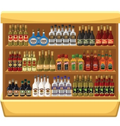 Shop alcoholic beverages vector