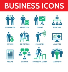 12 Business Icons - Business People vector image