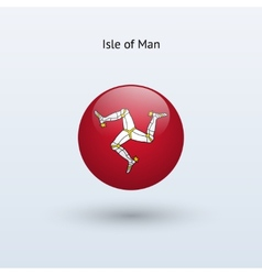 Isle of man round flag vector