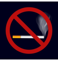 Single isolated stop smoking cigarette symbol vector