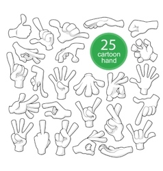 Comics cartoon hands vector