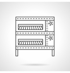 Oven for buns flat line icon vector