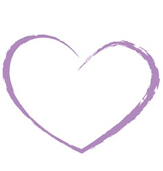 Purple heart drawing love valentine vector