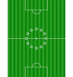 Soccer football pitch and stars background vector