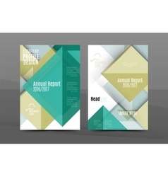 Square and triangle design annual report template vector
