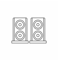 Two audio speakers icon outline style vector