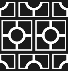 abstract art deco black geometric seamless pattern vector image vector image