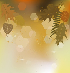 Autumn background with a space for the text vector image vector image